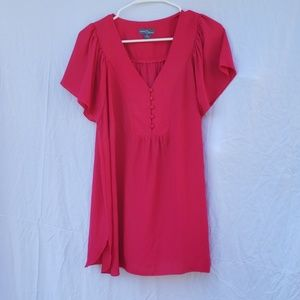 Market & Spruce pink cap sleeve blouse 1x
